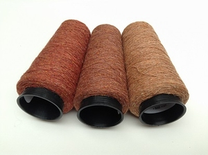 Bourette de Luxe   100% Soie 20/1Nm 3 color Rost Red  3 cones