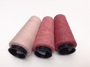 Bourette de Luxe   100% Soie 20/1Nm 3 colors Pinky  3 cones