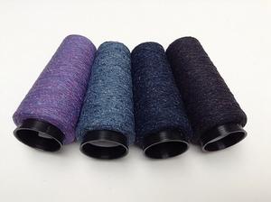 Bourette de Luxe   100% Soie 20/1Nm 4 color LilaViolet Blauw  4 cones