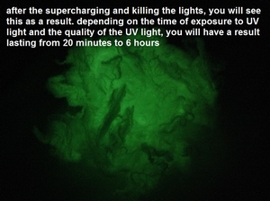 Glow in the dark fibers  +- 50 gram