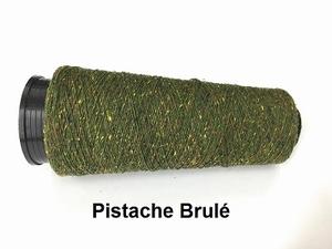 Bourette de Luxe zijde 20 Nm Pistache Brulé  500 meter/cone