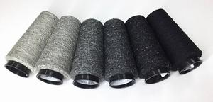 Bourette de Luxe zijde 20 Nm 6 colors grey black  6 cones