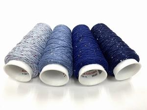 Coton Paillette  super colors  4 bleus