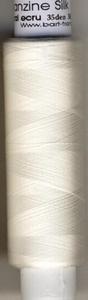Organza silk   35 Den cooked  Natural  ecru  1000 meter/cone