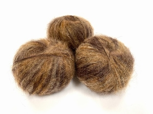 dirty children mohair super soft  color brown caramel sepia  +-35gram = 315m