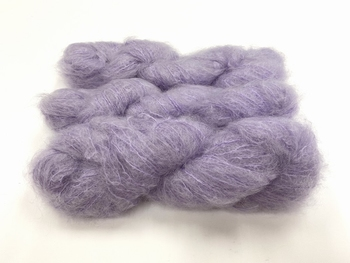 Scottish highland mohair color paeonia doux violet