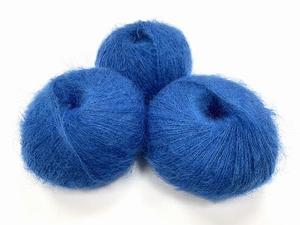 dirty children mohair super soft  color intens bleuï  +-35gram = 315m