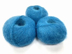 dirty children mohair super soft  color creta bleu  +-35gram = 315m
