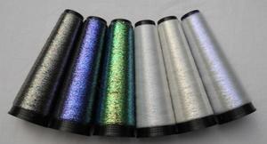 Iriserende draad polyester filament transparant 6 kleuren