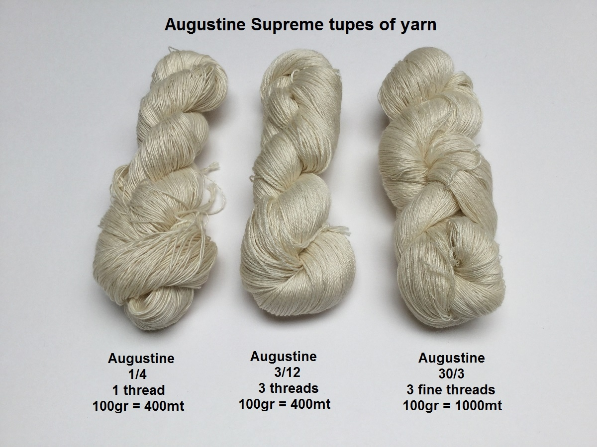 Augustine Supreme 12/3Nm  100 gram = 400 meter