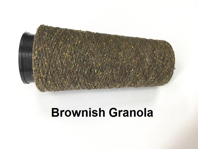 Bourette de Luxe zijde 20 Nm 5 colors brun brownish