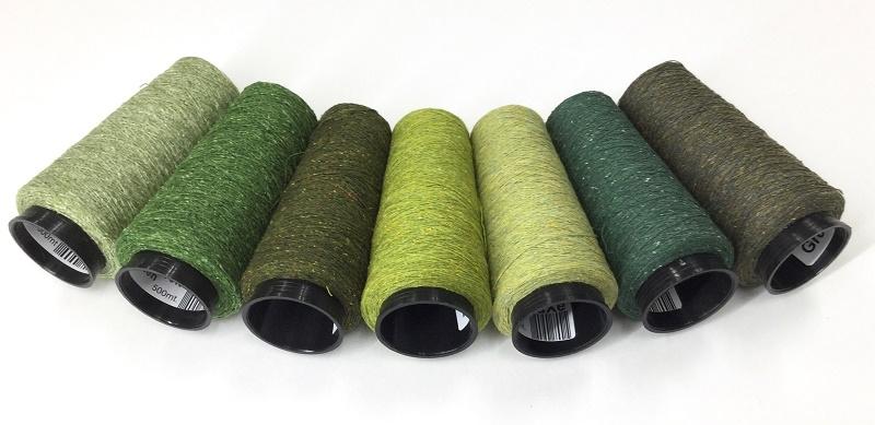 Bourette de Luxe zijde 20 Nm 7colors Greens
