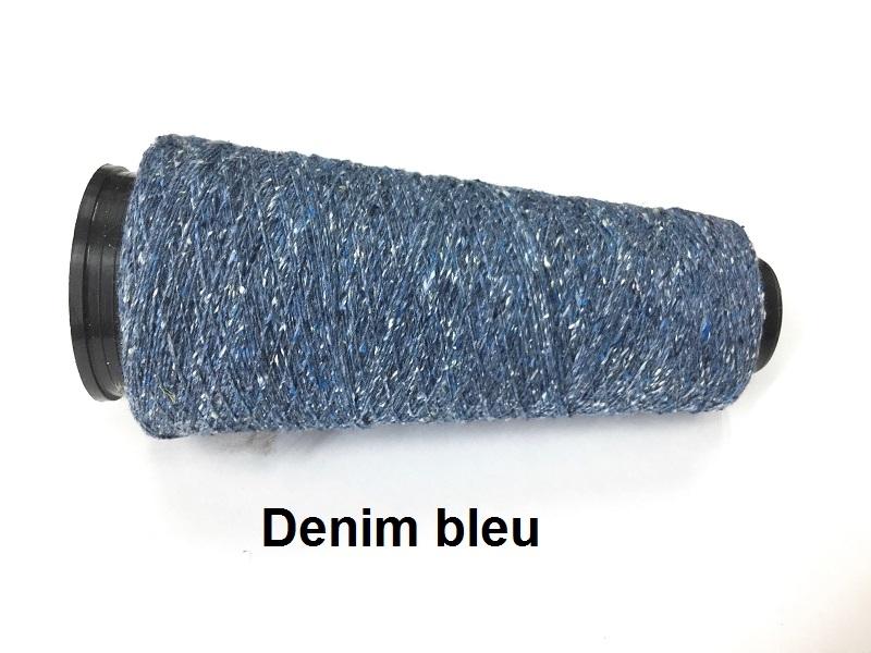 Bourette de Luxe zijde 20 Nm Denim Bleu