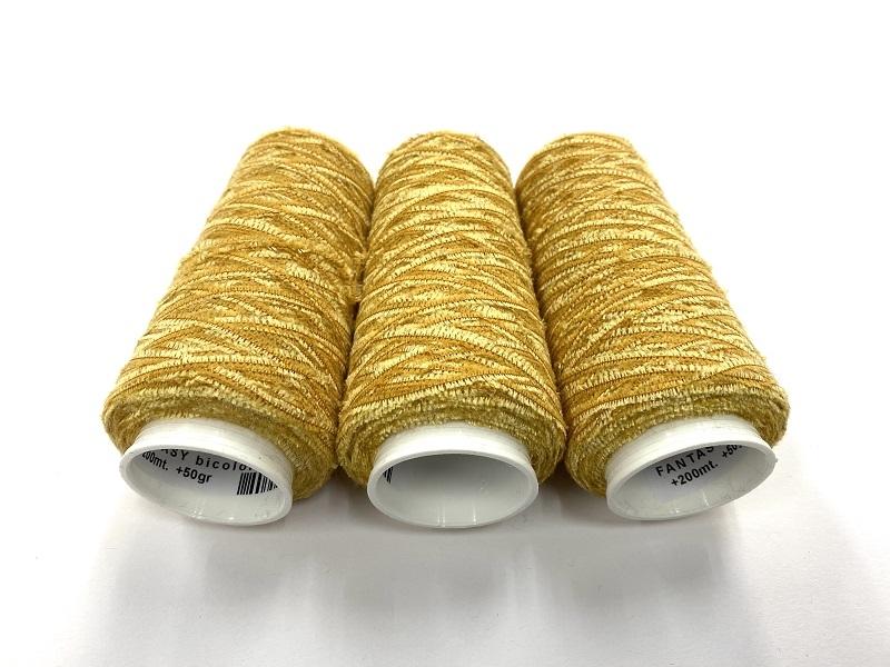 cashmere chenille type  fantasy bicolor color dark yellow