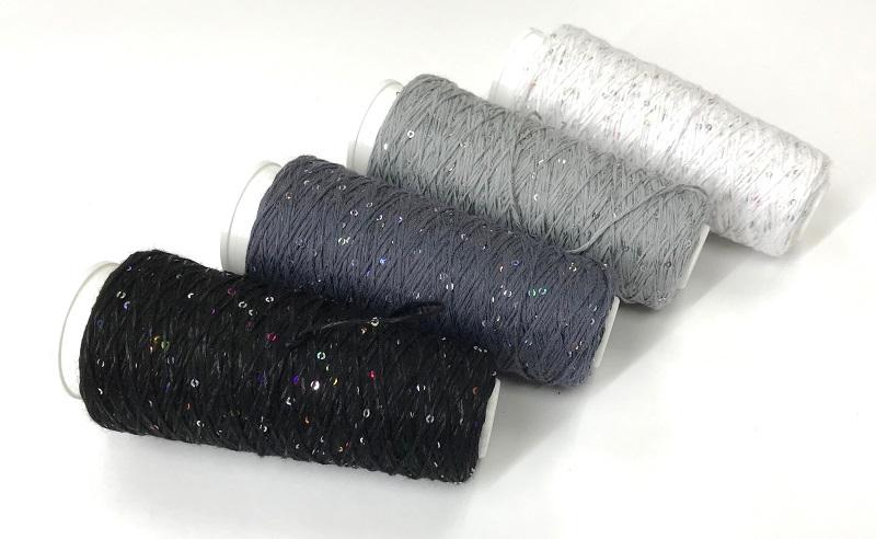 Coton Paillette  super colors BLACK NOIR