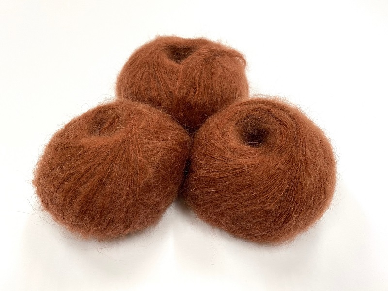 dirty children mohair super soft  color brown