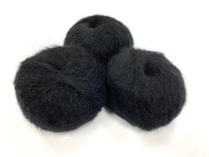 dirty children mohair super soft  color intens noir