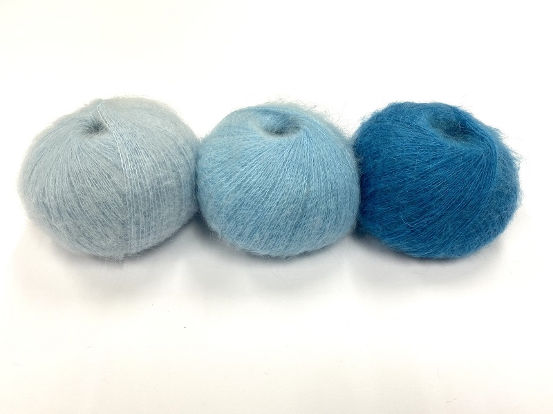 dirty children mohair super soft  color lake tahou