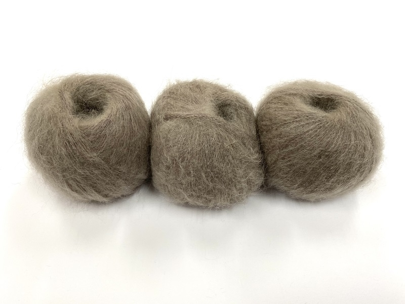 dirty children mohair super soft  color soft taupe