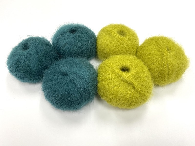 dirty children mohair super soft  color washed teal