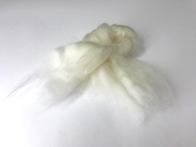 EUROPEAN cashmere fibres 15,2mic  blanc Naturel