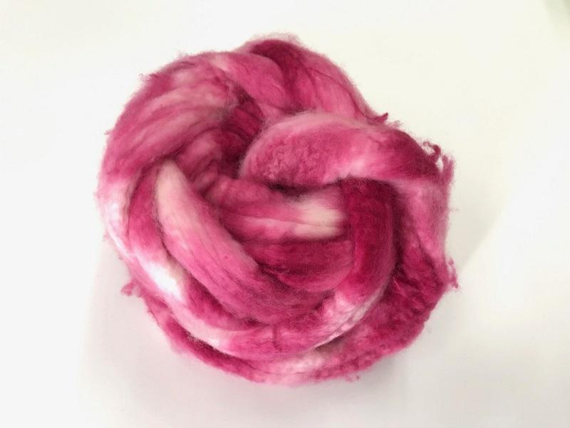 EUROPEAN cashmere fibres 15,2mic  color pink bordeua