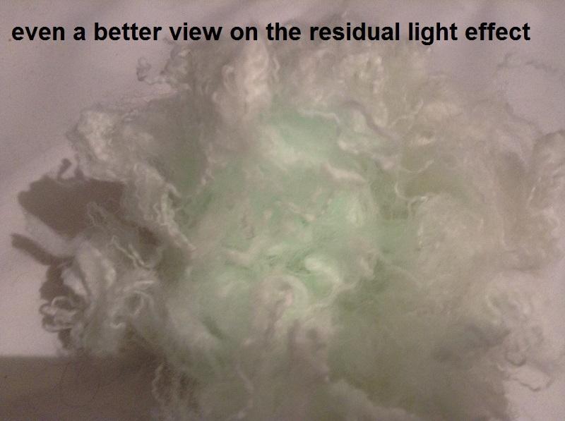 Glow in the dark fiberes