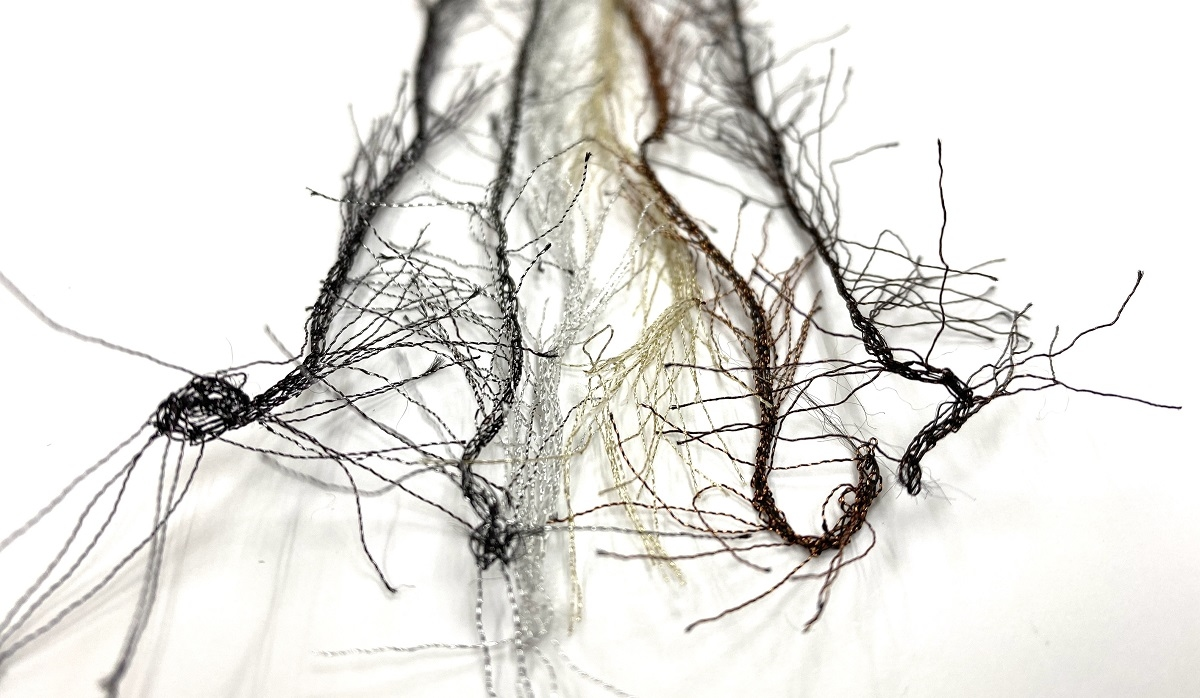 Hautecouture soft metaloïde Feathers col bronsbrown