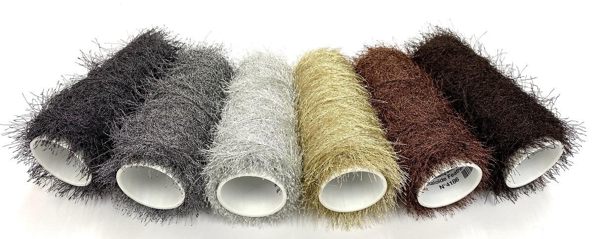 Hautecouture soft metaloïde Feathers col copper