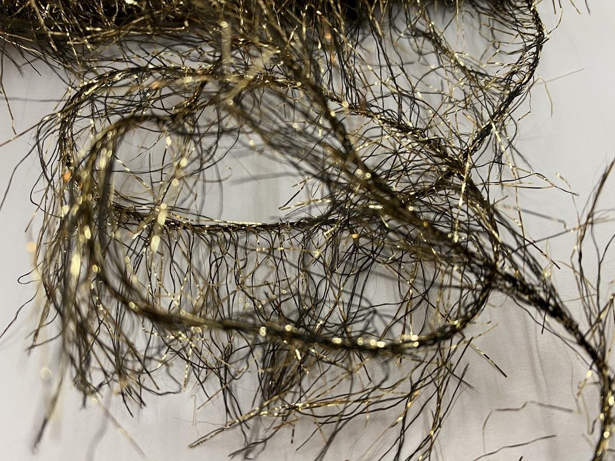 Hautecouture soft metaloïde OstrichFeathers gold