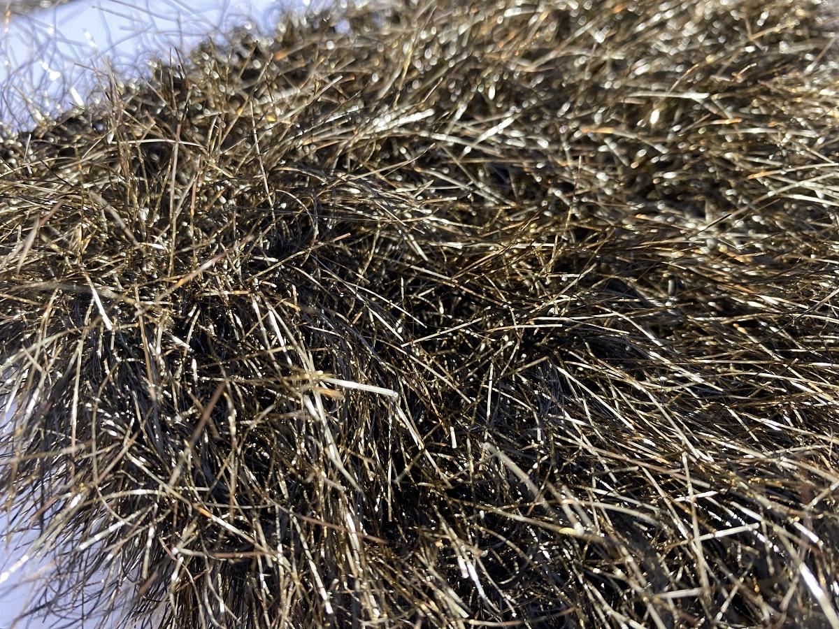 Hautecouture soft metaloïde OstrichFeathers rose