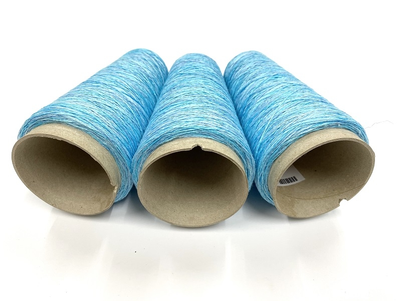 inktjet printed pure linen color lesbian baby bleu