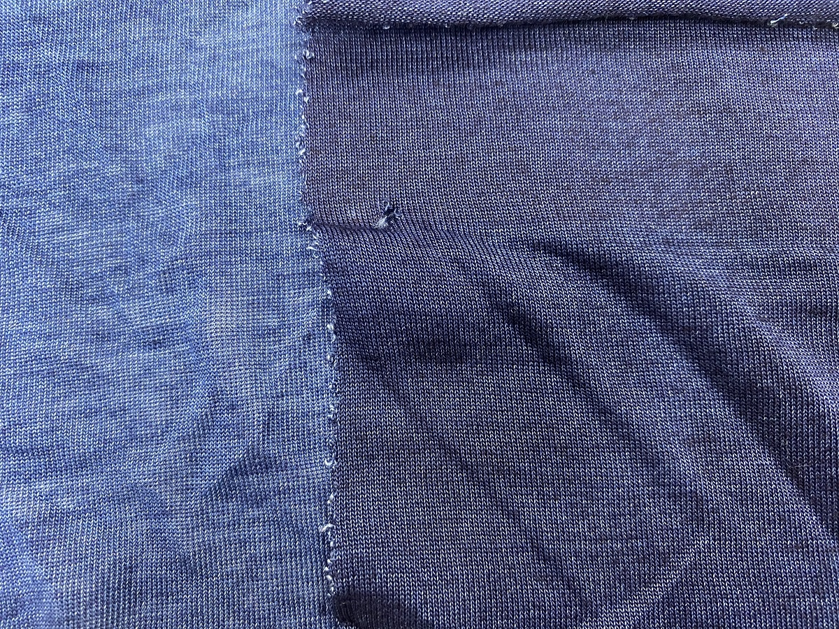 knitted 100% pure seaweed in fluide soft Tshirt jersey