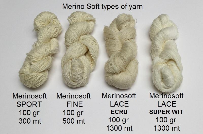 MerinoSoft fine (500mete = 100gram)Natural Ecru