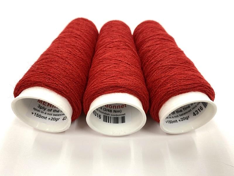 merinoX CORDONNETfor E-TEXTILES and fun textile RED