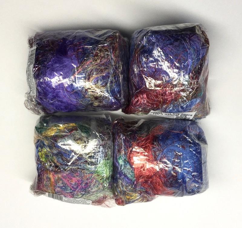 multicolored argentia SILK fibers  100gram