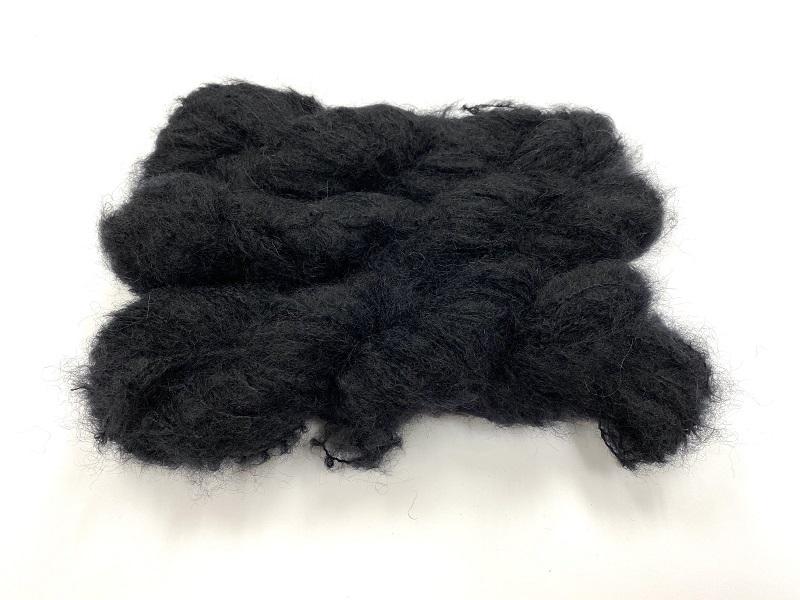 Scottish highland mohair color deep black