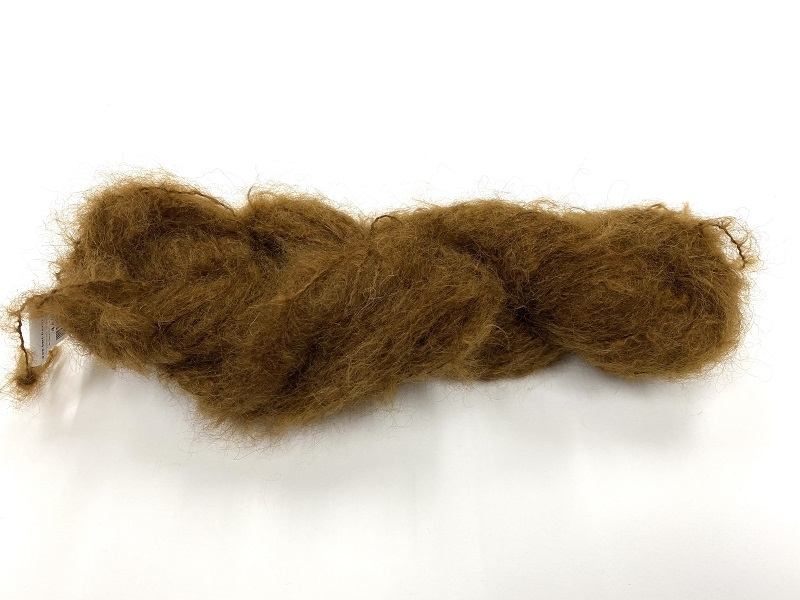 Scottish highland mohair color sepia brown