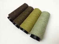 Bourette de Luxe   100% Soie 20/1Nm 4 colors Green 4 cones