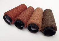 Bourette de Luxe   100% Seide 20/1Nm 4 color Rost RedBrown 4 cones
