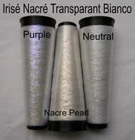 3 couleurs de Irisrende Nacré Transparante fils 3 cones