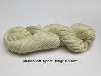 MerinoSoft SPORT (300mete = 100gram) Natural Ecru 300meter=100gra
