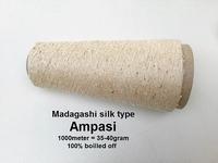 Madagashi silk type 100% deserisiné Ampasi 1000 meter/cone