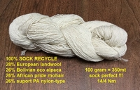 100% Sock Recycle (introduction price) 350mt = 100gr