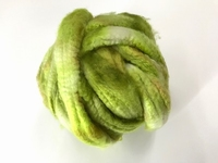 EUROPEAN cashmere fibres 15,2mic  color green botanique  25 gram