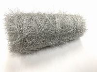 Hautecouture soft metaloïde Feathers col silver +100meter