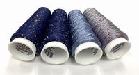 Micro Paillette  colors Paris 1920 4 x bleus 4 cones