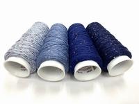 Coton Paillette  super colors  4 bleus 4 cones