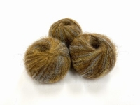 dirty children mohair super soft  color brown grey tracebleu +-35gram = 315m