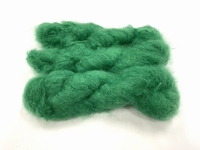 Scottish highland mohair color intens grass green +50gram +100met